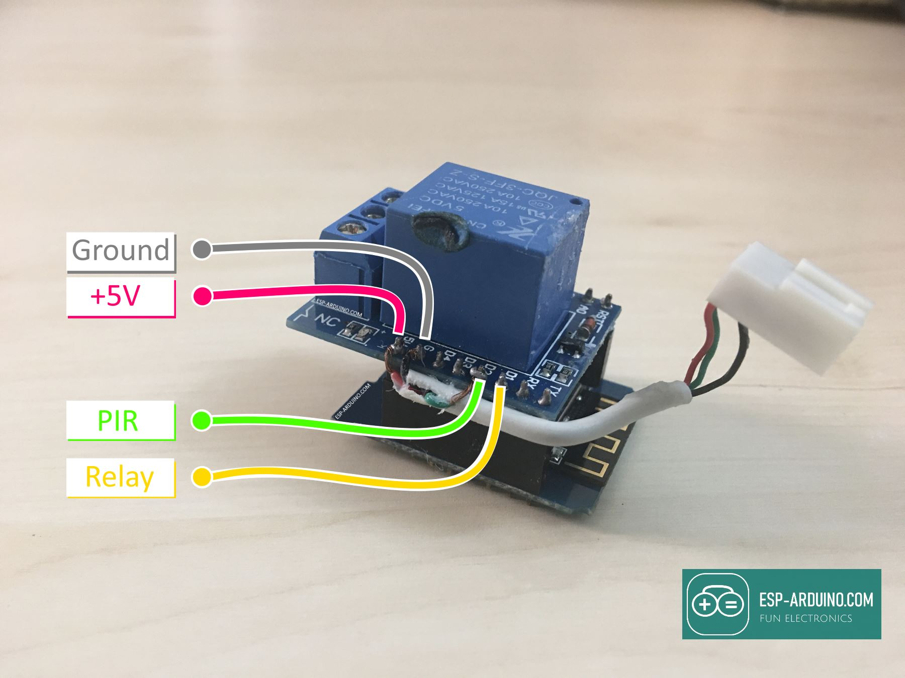 Wemos Relay module pins