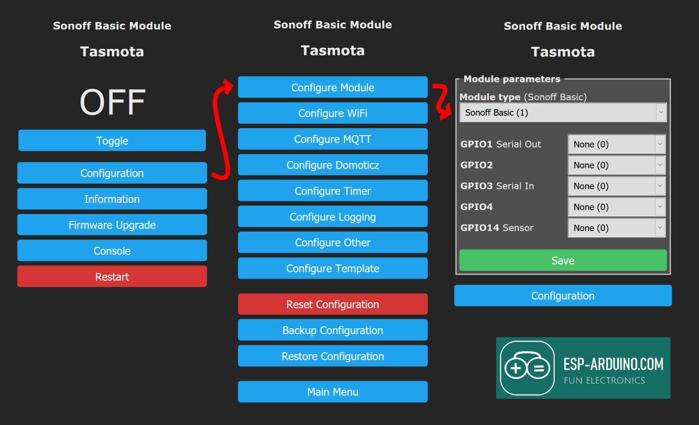 motion sensor configure tasmota esp-arduino